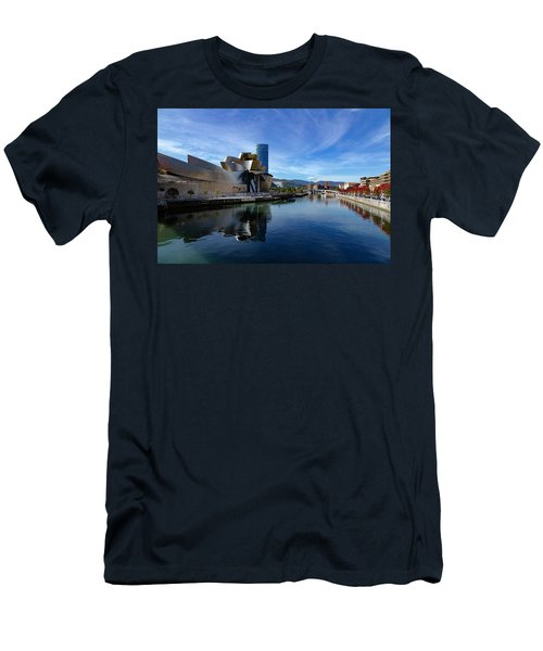 Bilbao In Autumn With Blue Skies Next To The River Nervion Men's T-Shirt (Athletic Fit)