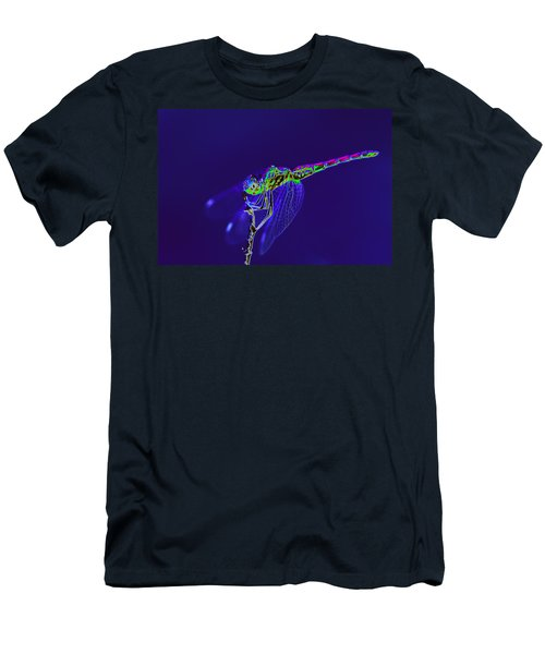 Bioluminescent Dragonfly Men's T-Shirt (Athletic Fit)