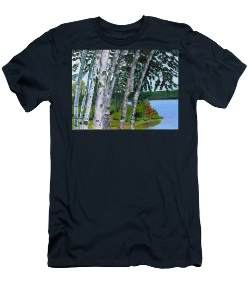Birches At First Connecticut Lake Men's T-Shirt (Athletic Fit)