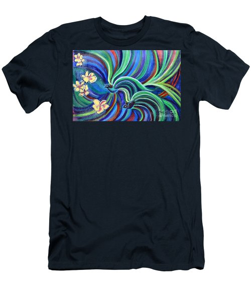 Bird Symphony With Frangipani Men's T-Shirt (Athletic Fit)