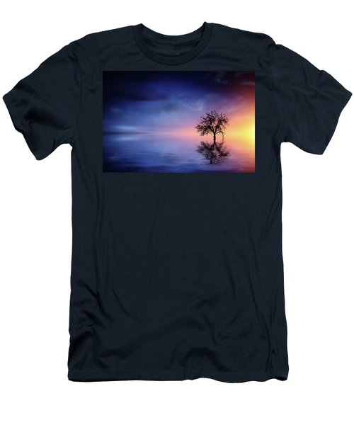 Birds In The Trees, Some Are Fleeing Men's T-Shirt (Slim Fit) by Bess Hamiti