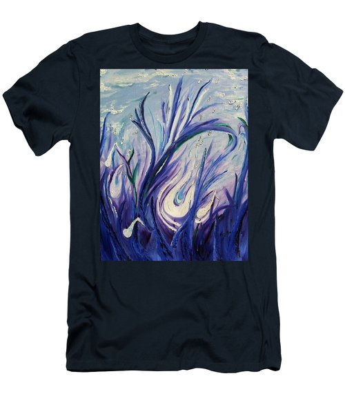 Birth Of Music Men's T-Shirt (Slim Fit) by Lisa Rose Musselwhite