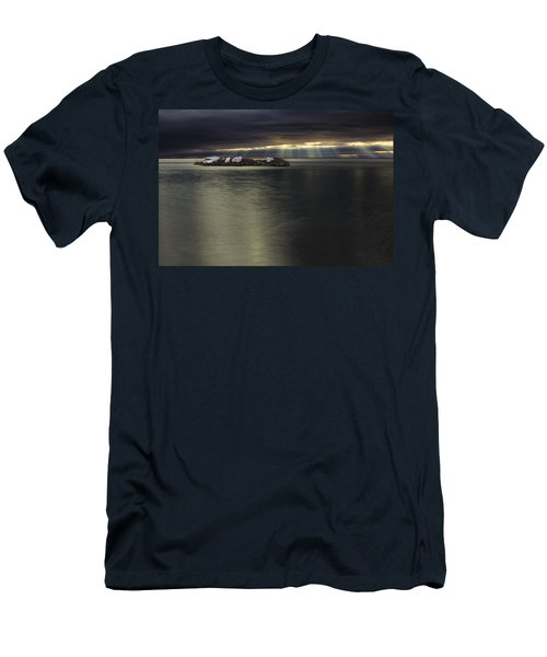 Black And Gold The Fingers Of God Men's T-Shirt (Athletic Fit)