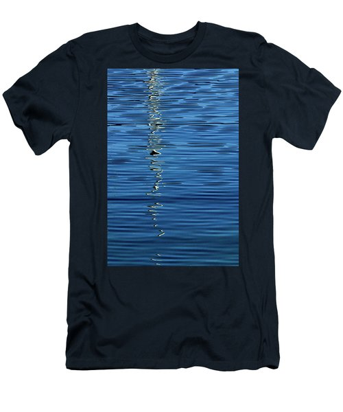 Black And White On Blue Men's T-Shirt (Athletic Fit)