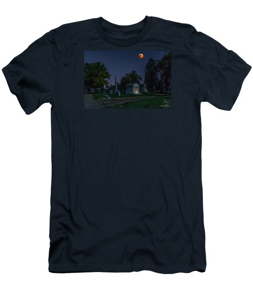 Blood Moon At Fairmount Cemetery Men's T-Shirt (Slim Fit) by Stephen  Johnson