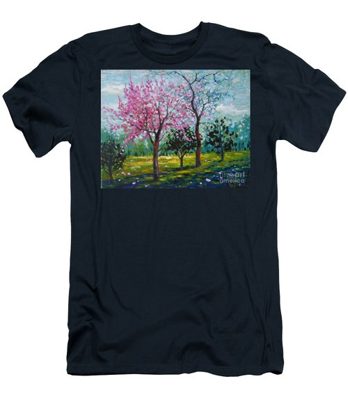 Bloom In Pink Men's T-Shirt (Athletic Fit)