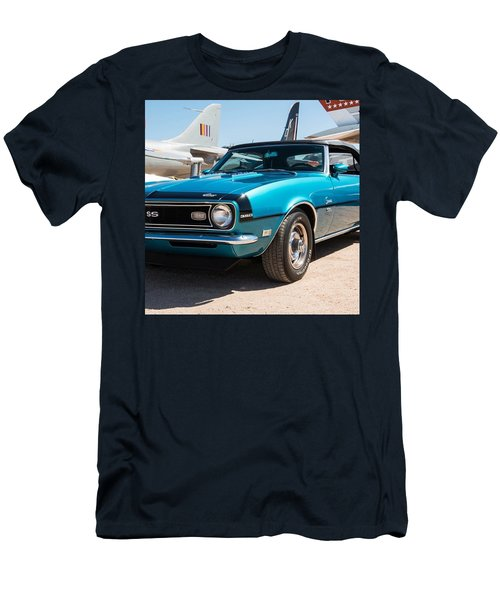 Blue 350 Chevy Camaro Ss Men's T-Shirt (Athletic Fit)