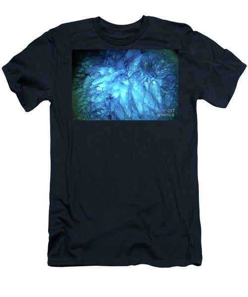 Men's T-Shirt (Slim Fit) featuring the photograph Blue Agate by Nicholas Burningham
