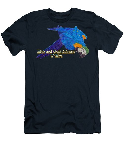 Blue And Gold Macaw Men's T-Shirt (Athletic Fit)