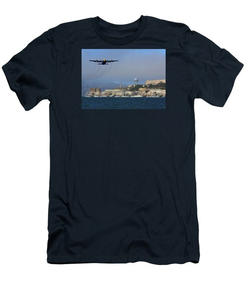 Blue Angels C130 Fat Albert Passes Alcatraz Men's T-Shirt (Athletic Fit)