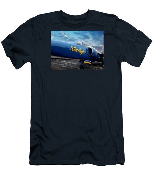 Men's T-Shirt (Slim Fit) featuring the photograph Blue Angels Grumman F11 by Rod Seel