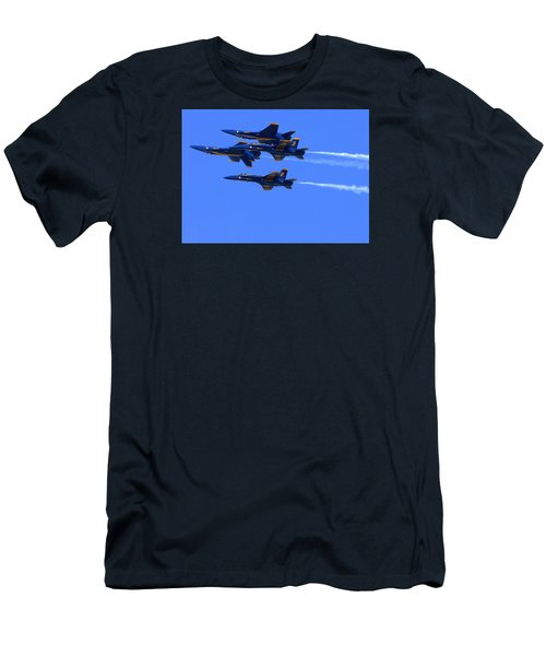 Blue Angels Perform Over San Francisco Bay Men's T-Shirt (Athletic Fit)