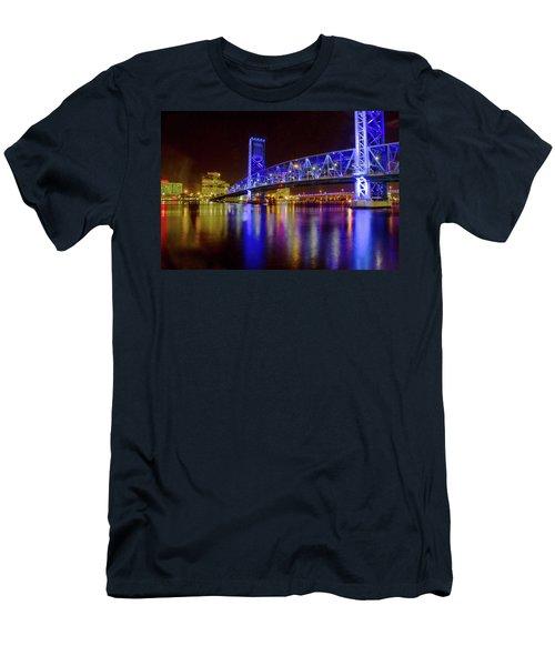 Men's T-Shirt (Slim Fit) featuring the photograph Blue Bridge 2 by Arthur Dodd