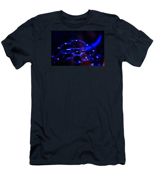 Blue Bubbles Men's T-Shirt (Slim Fit) by Jana Russon