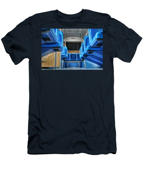 Blue Bus Seats Men's T-Shirt (Athletic Fit)