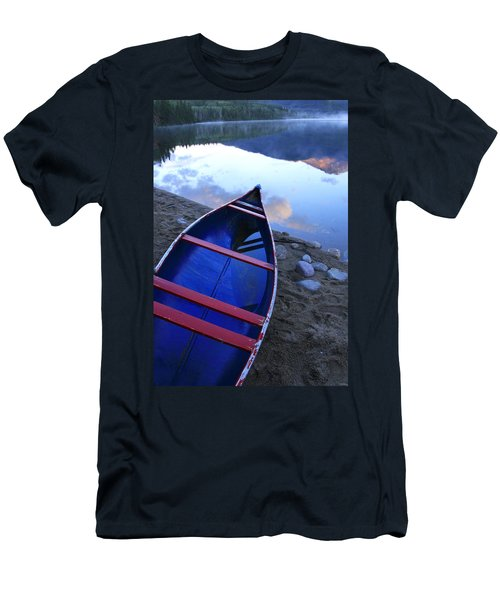 Blue Canoe Men's T-Shirt (Slim Fit) by Catherine Alfidi