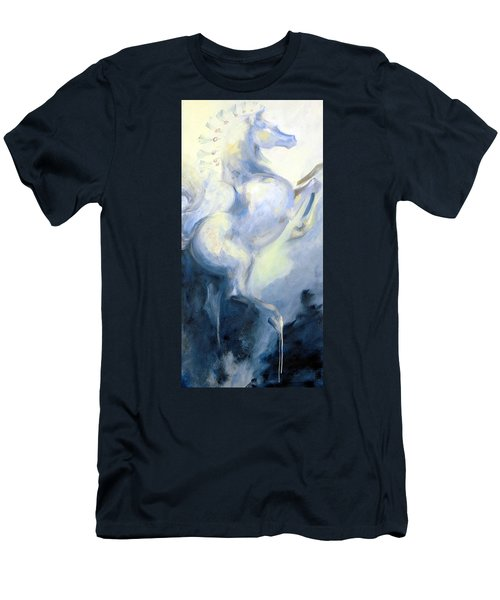 Blue Circus Pony 1 Men's T-Shirt (Slim Fit) by Dina Dargo