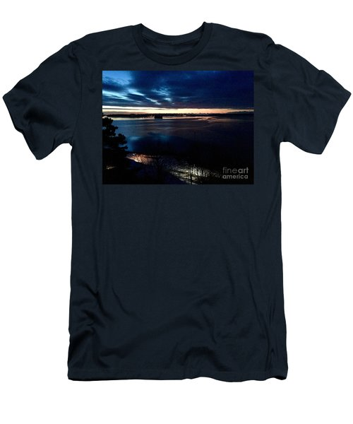 Blue Dawn On Casco Bay Men's T-Shirt (Athletic Fit)