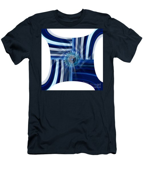 Blue Dimension  Men's T-Shirt (Slim Fit) by Thibault Toussaint