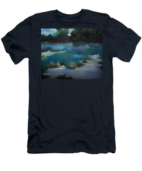 Blue Eden Men's T-Shirt (Slim Fit) by Marika Evanson