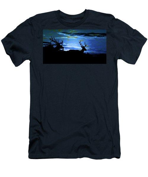 Blue Elk Dreamscape Men's T-Shirt (Slim Fit) by Mike Breau