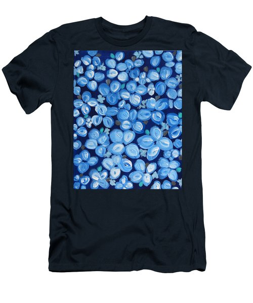 Blue Floral Frenzy Men's T-Shirt (Athletic Fit)