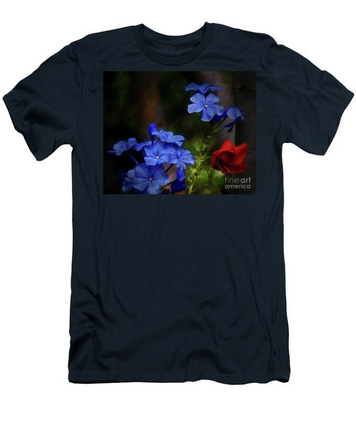 Blue Flowers Growing Up The Apple Tree Men's T-Shirt (Athletic Fit)