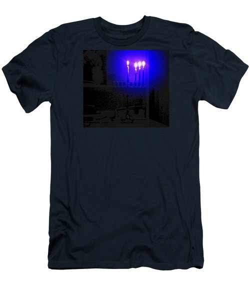 Blue Hanukkah On The Third Day Men's T-Shirt (Athletic Fit)