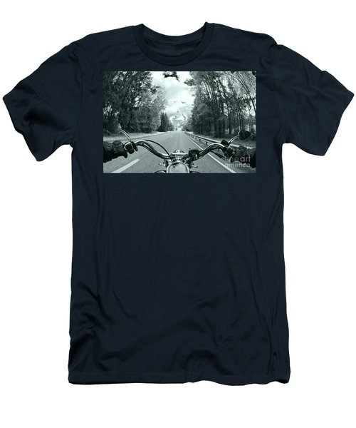Blue Harley Men's T-Shirt (Slim Fit) by Micah May