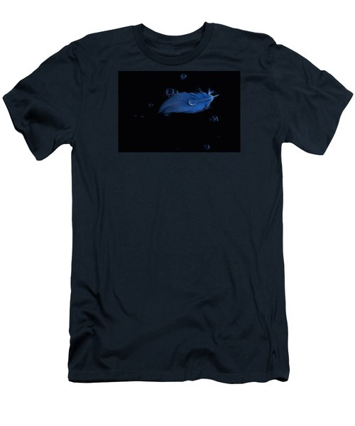Blue Heron Feather Men's T-Shirt (Athletic Fit)