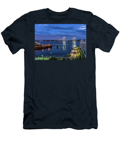 Blue Hour Over The Hudson Men's T-Shirt (Athletic Fit)