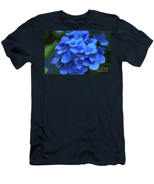 Blue Hydrangea Stylized Men's T-Shirt (Athletic Fit)