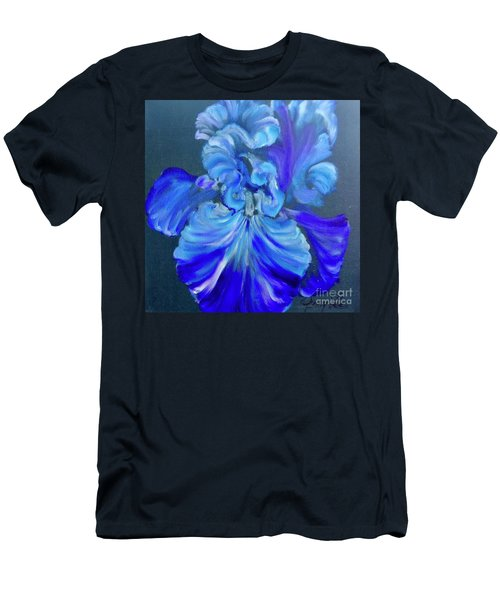 Blue/lavender Iris Men's T-Shirt (Athletic Fit)