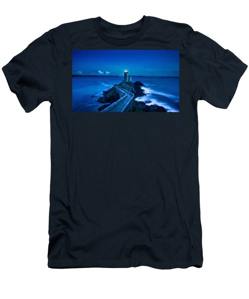 Blue Lighthouse Men's T-Shirt (Athletic Fit)