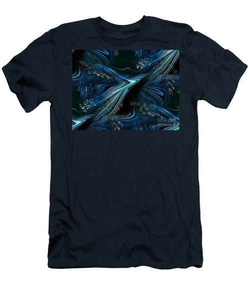 Blue Meditation Men's T-Shirt (Slim Fit) by Yul Olaivar