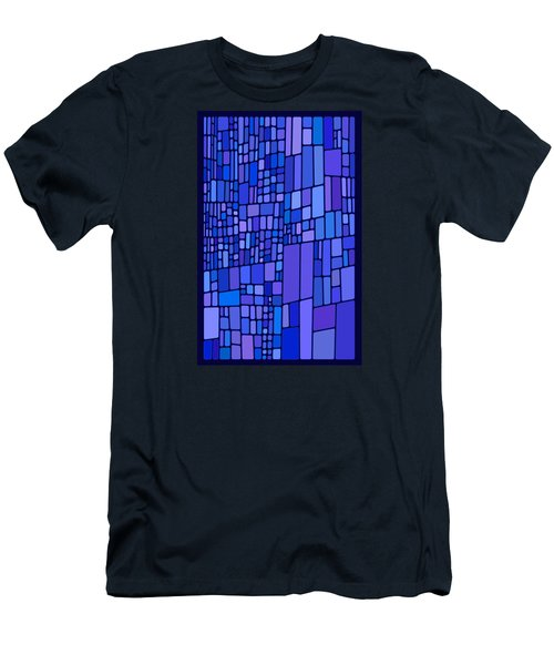 Blue Mondrian Men's T-Shirt (Athletic Fit)