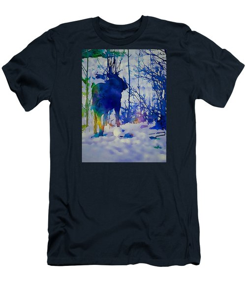 Blue Moose Men's T-Shirt (Slim Fit) by Jan Amiss Photography