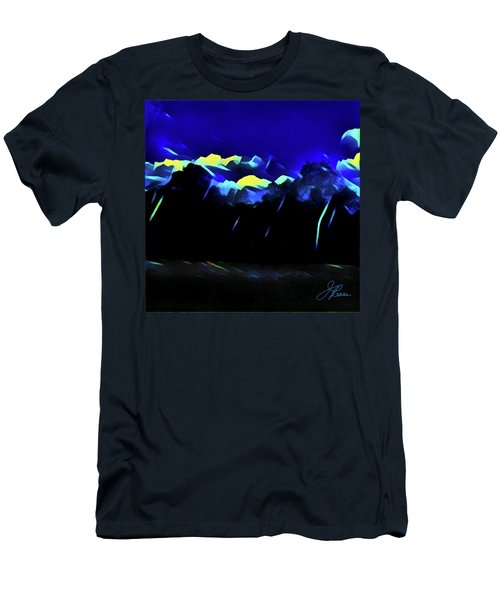 Men's T-Shirt (Athletic Fit) featuring the painting Blue Mountains by Joan Reese