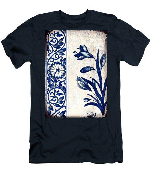 Blue Oriental Vintage Tile 03 Men's T-Shirt (Athletic Fit)