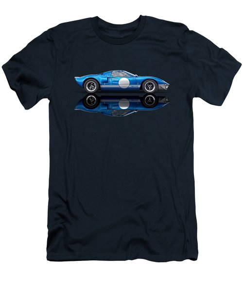 Blue Reflections - Ford Gt40 Men's T-Shirt (Athletic Fit)