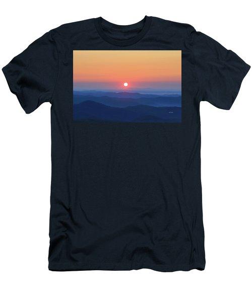 Blue Ridge Sunrise Men's T-Shirt (Slim Fit) by Dale R Carlson