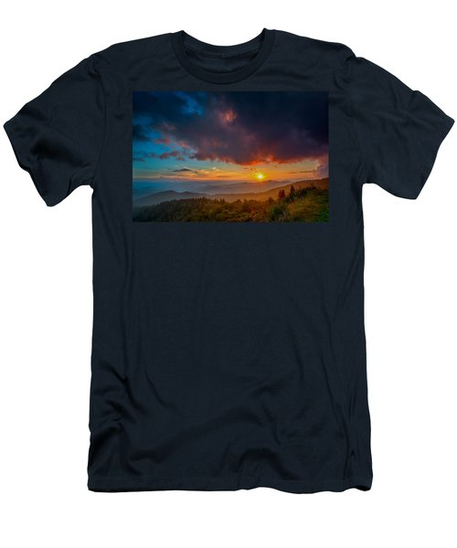 Men's T-Shirt (Athletic Fit) featuring the photograph Blue Ridge Sunset by Joye Ardyn Durham