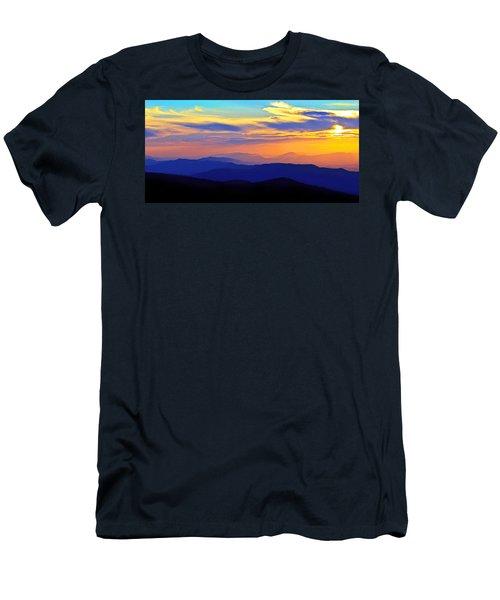 Blue Ridge Sunset, Virginia Men's T-Shirt (Athletic Fit)