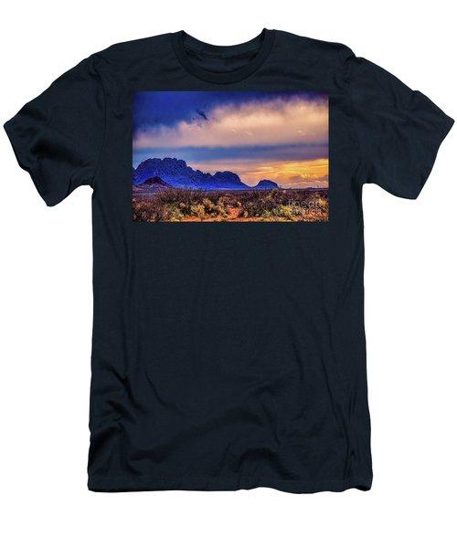 Blue Sunset Nm-az Men's T-Shirt (Athletic Fit)