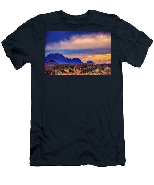 Blue Sunset Nm-az Men's T-Shirt (Athletic Fit)