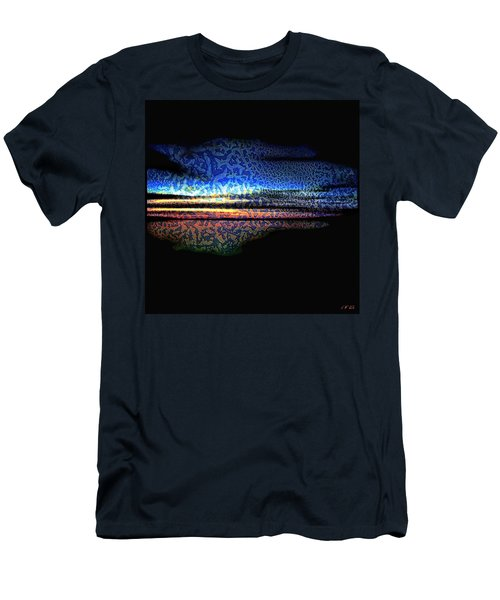 Blue Sunset On The Lake  Men's T-Shirt (Athletic Fit)