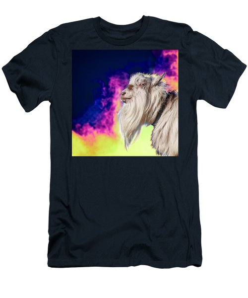 Blue The Goat In Fog Men's T-Shirt (Athletic Fit)