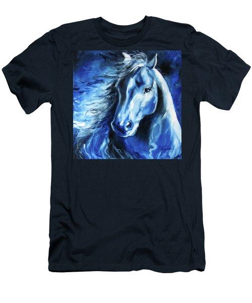 Blue Thunder  Men's T-Shirt (Slim Fit) by Marcia Baldwin