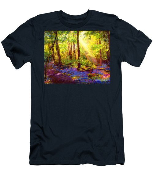 Men's T-Shirt (Slim Fit) featuring the painting Bluebell Blessing by Jane Small