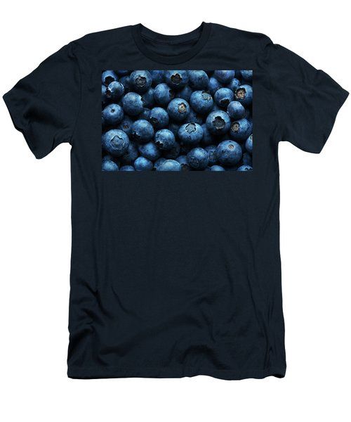 Blueberries Background Close-up Men's T-Shirt (Athletic Fit)